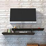 Mensola Mensola Galleggiante Wall Mount Mobile TV Sfondo Muro Scaffale per Lettori Dvd/Blu-Ray Box per TV satellitare (Colore : Nero, Dimensioni : 105cm)