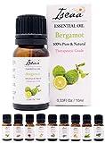 100% reines Ätherisches Bergamotte Öl Therapeutische Grad Duftöl Bergamotteöl für Aromatherapie, Massage, Wellness, Aroma Diffuser, Duftlampe 10 ml