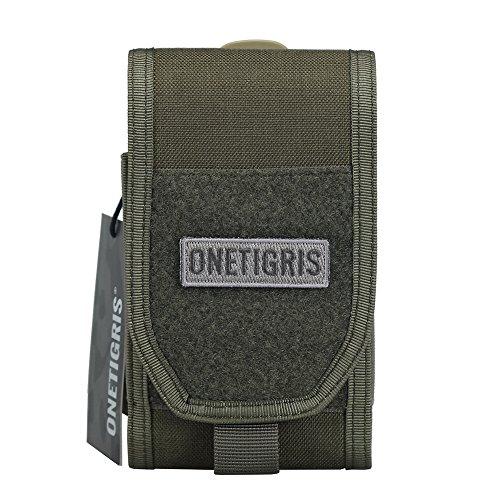 OneTigris Molle Taktische Handytasche Schutztasche für iPhone 7/iPhone 7 plus/iPhone6/iPhone 6 Plus/iPhone 6s/iPhone 6s Plus, Klettverschluss (Ranger Grün)