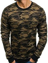 BOLF – Sweat camouflage imprimé – Col rond – Motif militaire – Homme 1A1