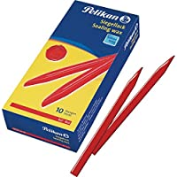 Pelikan 730485 - Pack de 10 lacres, color rojo