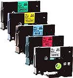 5 Schriftbandkassetten kompatibel zu Brother TZe-231-731 12mm 8m lang laminiert