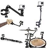 JOYOOO The Jam Cuello Ajustable Montaje de Abrazadera Flexible para Music Guitar Bass Violin Mic Stand Mounts for GoPro SJ Xiaoyi Camera
