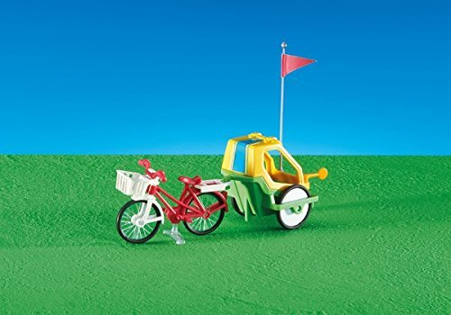 Playmobil 6388. Bicicleta con remolque para Niños