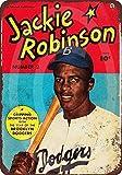 qidushop 1950 Jackie Robinson Comic Reproduction de Bande dessinée en métal Décoration Murale Art Shop Man Cave Bar Garage Aluminium 30 x 45 cm