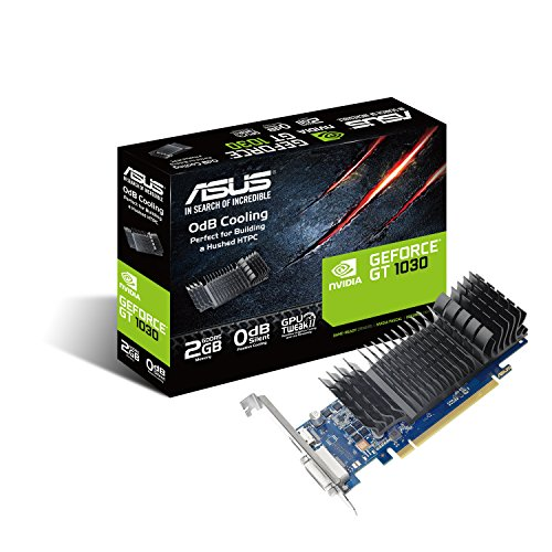 ASUS GeForce Pascal GT 1030 2GB GDDR5 64bit Graphics Card for Silent HTPC Build (with I/O Port Brackets)