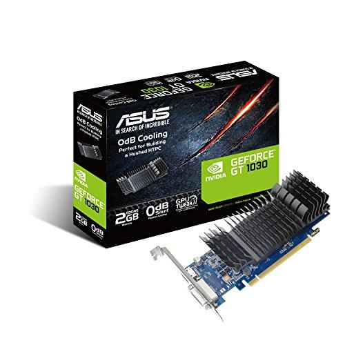 Asus GT1030-SL-2G-BRK Scheda Grafica, 2GB DDR5 64-bit, 1266 MHz (1506 MHz Boost), 384 CUDA cores, Raffreddamento Passivo