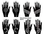 Henna Tattoo Plantillas 8unidades para un solo uso para manos...