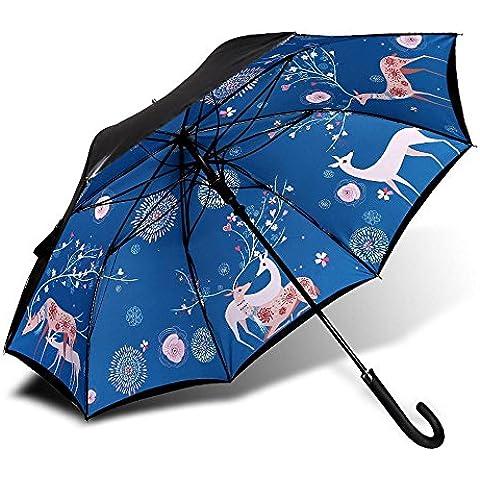 KHSKX Ombrelloni ombrellone creativo di ombrello lungo automatico del vinile, femmina ombrello ombrello ombrello UV Super Sun , A