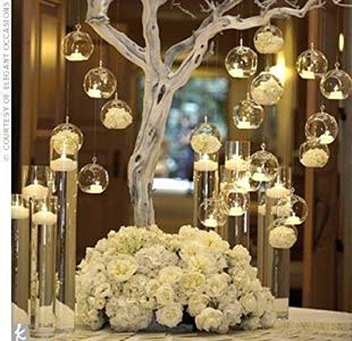 STYHOMSUN 8Pcs Marke Hängender Teelichthalter Glas Kerzenhalter Globes Terrarium Hochzeit-Vase Home Hotel Bar Decor
