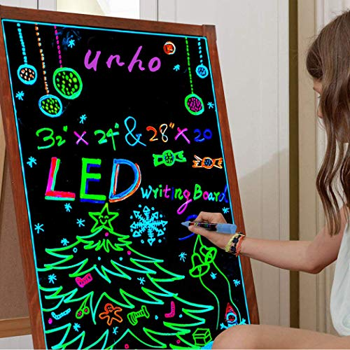 UNHO Pizarra LED Luminosa 80 x 60cm Tablero Mensajes