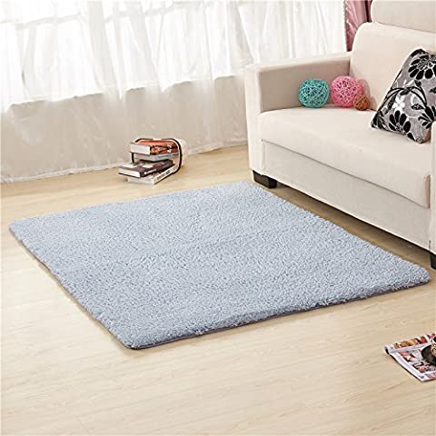 qwer Minimalistisch modern Teppich Farbe dick Wohnzimmer/Schlafzimmer Bett Tisch decken rechteckigen Bereich floating Teppich, 160 x 250 cm, grau