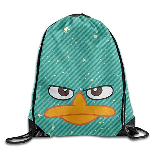 Sporttaschen,Eco-Friendly Pirnt Perry Platypus - Face Phineas Ferb Cool Exotic Drawstring Backpack String Bag ()