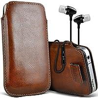Fone-Case (Marrone)Alcatel Fierce 4 alta qualità in pelle PU tirare