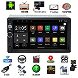 Autoradio Bluetooth, Parkomm 7 Pulgadas 2 DIN Estéreo de automóvil con Pantalla Táctil, Android 7.1 Multimedia MP5 con navegación GPS, Support Mirrorlink/Bluetooth / BT/WiFi/Am/FM/USB/AUX + Cámara
