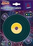 6Etiketten vorgedruckte, Musik Schallplatten Vinyl