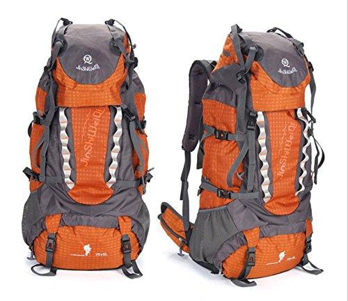 ROBAG Outdoor-Rucksack neue große Kapazität Rucksack im freien Männern und Frauen Klettern 80-Liter-Packung orange