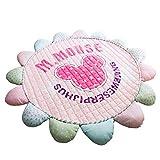 LCDY Baumwoll-Kindermatten Raumklettermatten Faltbare Babyspielmatten Yogamatten Cartoon-Muster Geschenke für Kinder,Pink,145CM