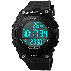 Men's Multifunction Sports Watches Waterproof Analog Digital LED Quartz Wrist Watch
