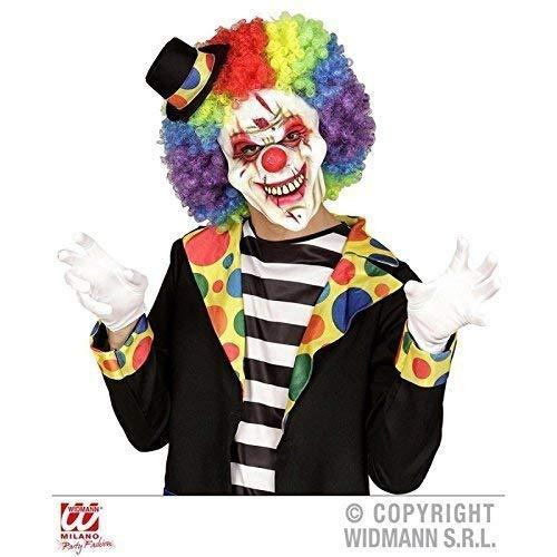 Lively Moments Halbmaske / Maske / Latexmaske / Clowenmaske / Clownsmaske Killer Clown mit großen ()