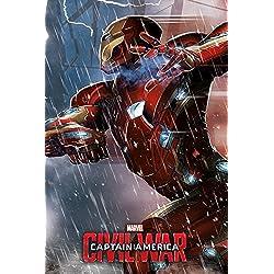 Capitán América Guerra Civil–Iron Man Póster (tamaño grande), multicolor