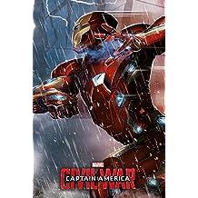 """Capitán América """"Guerra Civil–Iron Man Póster (tamaño grande), multicolor"""