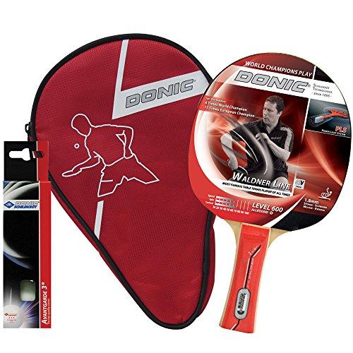 Donic-Schildkröt Tischtennis Geschenkset WALDNER 600 1 Schläger 3 Bälle Schlägerhülle, 788481