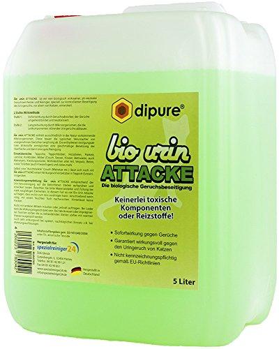 Katzenurin-Entferner - Bio Urin Attacke - Geruchsentferner mit Mikroorganismen (Katzen-Urin Reiniger, Geruchskiller, Geruchsneutralisierer, Urinfleck Entferner) -