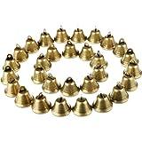 Maitys 30 Pièces Vintage Jingle Bells Clochettes en Bronze Cloche Porte Chien pour la Fabrication de Carillons Éoliens, Artisanat Décorations et Dressage de Chiens