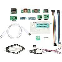 Programador universal USB para TL866II Plus EEPROM FLASH 8051 AVR MCU GAL Herramienta de actualización de PIC con 10 adaptadores