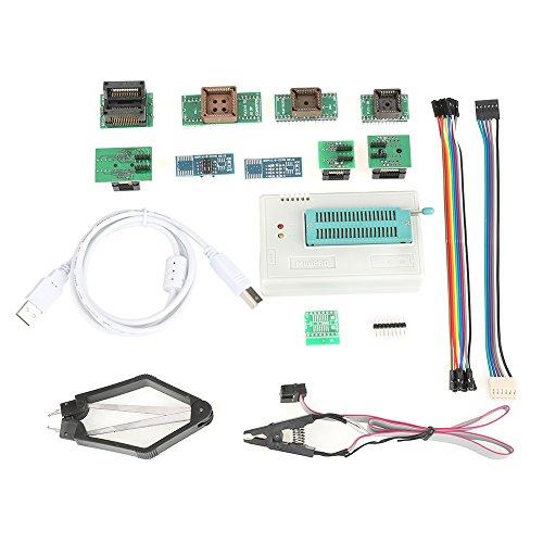 USB-Universalprogrammierer Programmierbare Logikschaltungen für TL866II Plus EEPROM FLASH 8051 AVR MCU GAL-PIC mit 10 Adapter MEHRWEG VERPACKUNG socialme-eu (Avr 8 Pin)