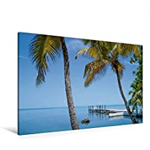 Premium Textil-Leinwand 120 cm x 80 cm quer, FLORIDA KEYS Palmen & Meerblick | Wandbild, Bild auf Keilrahmen, Fertigbild auf echter Leinwand, Leinwanddruck: Traumhafter Ort (CALVENDO Orte)