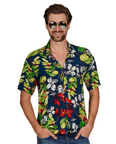 (Magnum Hawaii Shirt mit Knöpfen für Schlagermove & Bad Taste Party 58/60)