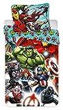Avengers Comics - Parure de Lit - Housse de Couette Coton