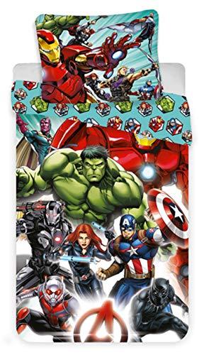 Avengers Comics - Juego de Cama - Funda nórdica de algodón