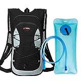 12L Mini Bicicleta mochila impermeable, BeGreat paquete de hidratación con mochila 2L bolsa de agua bicicleta de esquí bolsa de esquí Biking, respirable hombro mochila ligero para los deportes al aire libre acampar corriendo