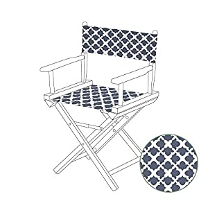 Gardenista Durable Replacement Seat Cover for Directors Chair | Water Resistant & Easy Clean Fabric | Torino Style…