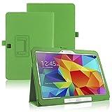 Funda Caso para Samsung GALAXY Tab 4 10.1 Pulgadas SM-T530 T531 T533 T535 Smart Cover Slim Case Stand Flip Película (Verde) NUEVO