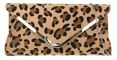Girly HandBags Frame leopardo bolsa de embrague - Leopard