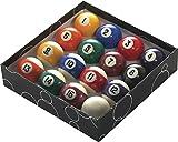 Powerglide Streifen und Spots Standard Pool-Kugeln Alle Größen (16Stück), Mehrfarbig, 2 1/4