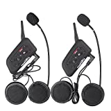 Fodsports 2pcs BT Motorcycle Intercom Motorbike Ski Atv Multi 6 Riders Interphone Handsfree