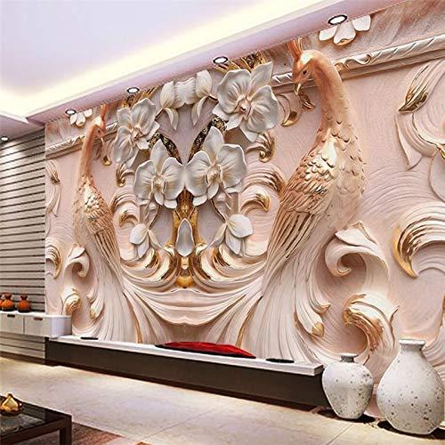 enspezifischer Wohnzimmer-Schlafzimmer Fernsehhintergrund Ummauert Große Relief-Schmetterlings-Wandgemälde -250Cmx175Cm ()