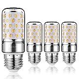 Yiizon LED M Glühbirne, E27, 12W, entspricht 100 W Glühlampe, 3000 K Warmweiß, 1200LM, CRI>80 +, kleine Edison-Schraube, nicht dimmbar Kandelaber LED Glühlampen(4 PCS)