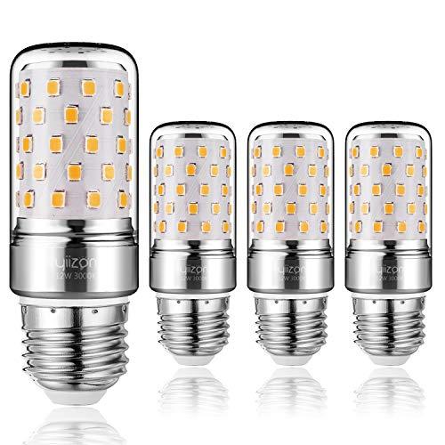 10w-kandelaber (Yiizon LED M Glühbirne, E27, 12W, entspricht 100 W Glühlampe, 3000 K Warmweiß, 1200LM, CRI>80 +, kleine Edison-Schraube, nicht dimmbar Kandelaber LED Glühlampen(4 PCS) (Warm Weiß E27))