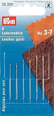 Prym 131259 Ledernadelsortiment, 6 Stück Größe 3-7