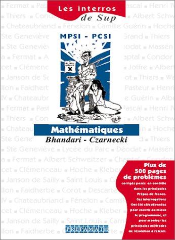 Mathématiques Sup MPSI-PCSI
