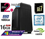 Ordenador SOBREMESA Intel Core i7 up 3.46Ghz x 4 Cores | GRÁFICA Nvidia GeForce 710 2GB | 16GB RAM | Disco Solido SSD 480GB | RW DVD/CD | Windows 10
