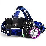 Beleuchtung Stirnlampen LED 2000 Lumen 3 Modus Cree XM-L T6 18650einstellbarer Fokus Wasserdicht Wiederaufladbar Stoßfest Schlag-Fassung