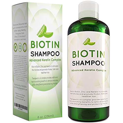 Hair Loss Shampoo for Men and Women - DHT Blocker - Biotin for Hair Growth and Regrowth Treatment - Thicker Fuller Hair Revitalizing Shampoo - Improve Circulation Scalp - Dandruff Shampoo Sulfate Free