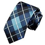 Vectry Vattertag Krawatten für Herren Klassische Party Herrenaccessoires Klassische Business Casual Strickkrawatten Hochzeit Anzug Schlanke Südkoreanische Seide Krawatte (W6/L145, Marine)